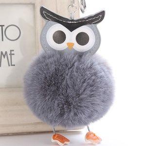 Accessories - NEW Cute Owl Pom Pom Handbag Charm / Keychain